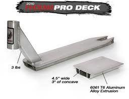 Phoenix Pro Scooter Deck Standard in Silver: Sports