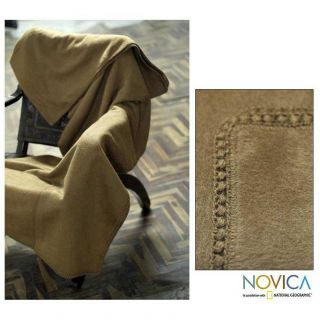 Hot Latte Alpaca Wool Blanket (Peru) Today $102.99