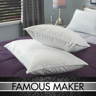 Famous Maker Luxury European White Goose Down King size Pillow (Set of