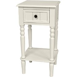 Wood 28 inch Classic Design Square Accent Table (China)