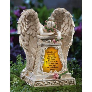 Solar Lighted Weeping Angel Memorial Garden Stone By Collections Etc