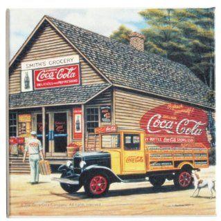 Coca Cola Country Store Retro Stone Coaster Kitchen