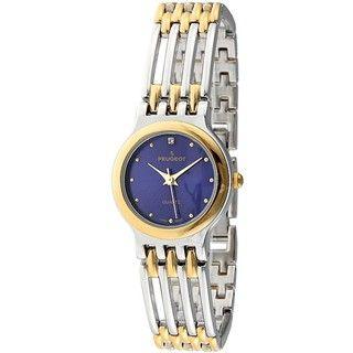 Peugeot Womens Two tone Open link Bracelet Watch