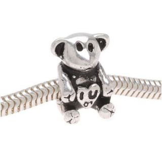 Beadaholique Sterling Silver 12 mm Teddy Bear Beads (Pack of 2) Today