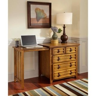 Home Styles Arts and Crafts Cottage Oak Expand a desk
