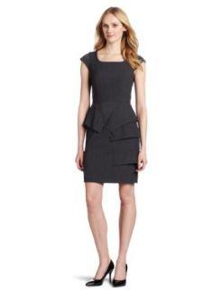 Calvin Klein Womens Cap Sleeve Pleated Front Dress