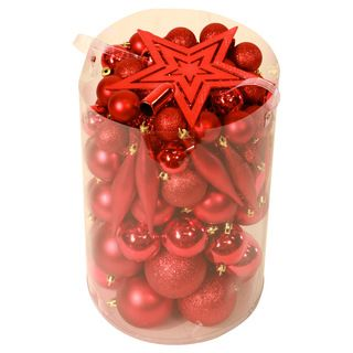 Red 100 piece Christmas Ornament Kit