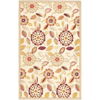 Hand hooked Floral Garden Ivory/ Pink Wool Rug (53 x 83) Today $179