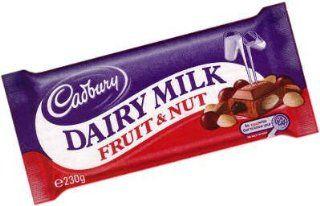 Cadbury Dairy Milk Fruit & Nut From England   230g Bar