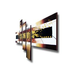 Hand painted Abstract 101 Gallery wrapped Canvas Art Set