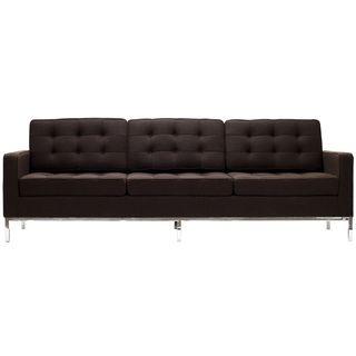 Florence Style Chocolate Brown Wool Sofa