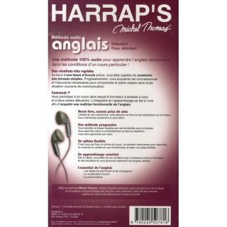 DICTIONNAIRE   LANGUE HARRAPS MICHEL THOMAS ; METHODE AUDIO ANGLAIS
