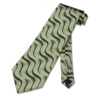 100% SILK Neck Tie with Green and Dark Green Diagonal