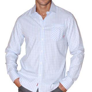 191 Unlimited Mens Window Pane Woven Shirt