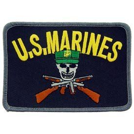 USMC Marine Corps Military Embroidered Iron On Patch