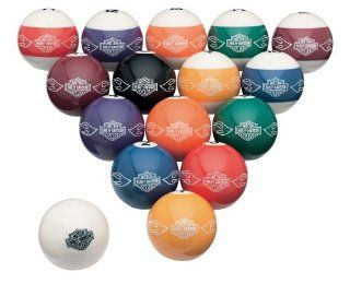 Harley Davidson® Bar & Shield Flames Billiard Ball Set