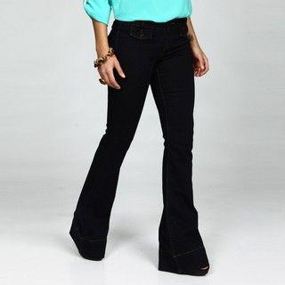 David Kahn Jeans Womens Laura Wide Leg Jeans