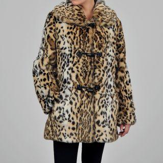 women s ocelot faux fur coat was $ 106 99 today $ 76 99 save 28 %