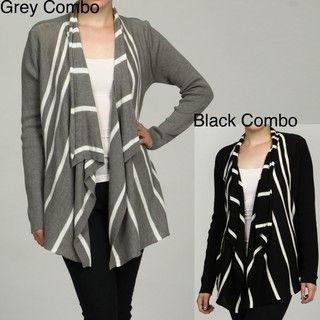 RXB Womens Stripe Ruffle Sweater