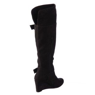R2 by Report Womens Mackenzie Black Wedge Buckle Boots FINAL SALE