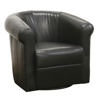 Baxton Studio Julian Black Faux Leather Club Chair