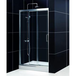 DreamLine Illusion 36x48 inch Trio Shower Base Shower Kit
