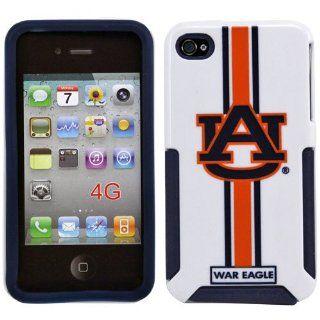 NCAA Auburn Tigers Helmetz Hard iPhone 4 Case   White