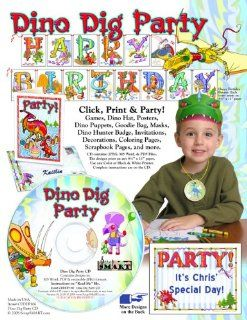 ScrapSMART   Dino Dig Party Kit   Jpeg, PDF, and Microsoft