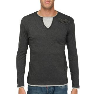 TRAXX T Shirt Homme Noir chiné Noir chiné   Achat / Vente T SHIRT