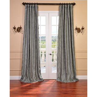 Platinum Faux Silk Embroidered 108 inch Curtain Panel
