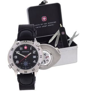 Wenger Mens G 3 Navigator Compass Watch/Swiss Army Knife/Gift Box