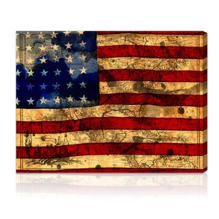 Oliver Gal Artist Co. The Flag Gallery wrapped Canvas Art