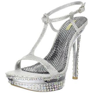 Celeste Womens T Strap Rhinestones Sandal
