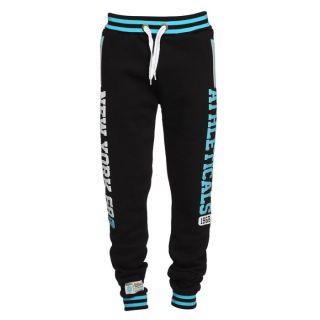 ATHLETICALS Pantalon de Jogging Homme Noir et turquoise   Achat