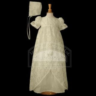 Baby Girls Ivory Vintage Lace Christening Baptism Dress