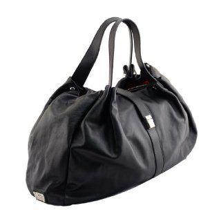 JE 6040MOUS NER Made in Italy Leather Black Shoulder Bag Shoes