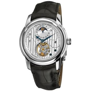 Frederique Constant Mens Heart Beat Moonphase Open Face Watch