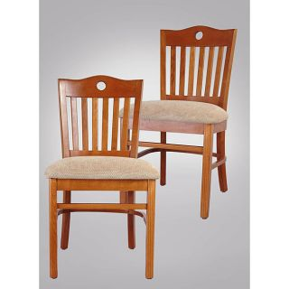 Peek a boo Cherry Rachel Wheat Side Chair (Set of 2)