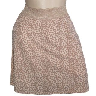 Vanity Fair Body Foundation Womens Leopard Half Slip