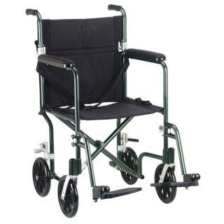 Drive Medical Flyweight 17 Aluminum Transport Wheelchair Today $161