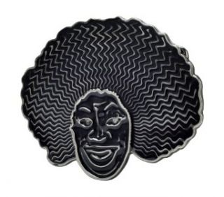 RETRO Afroman Belt Buckle Fro African American Black