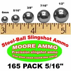 165 pack 5/16 Steel Ball slingshot ammo (12 oz) Sports