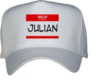 HELLO my name is JULIAN White Hat / Baseball Cap Clothing