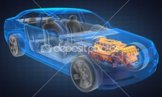 Transparent car concept  Foto stock © videodoctor #9127348