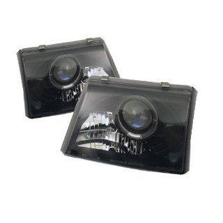 Ford Ranger 1998 1999 2000 Halo Projector Headlights   Black