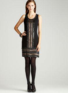 Adrianna Papell Short Beaded Border Dress