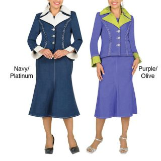 Divine Apparel Two Tone, 3 Piece Missy Denim Suit Today $124.99