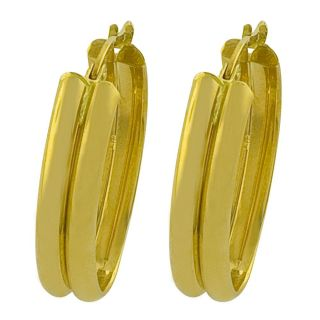 Fremada 14k Yellow Gold Polished Double Oval Hoop Earrings Today $249