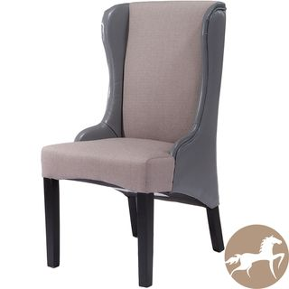 Christopher Knight Home Denise Grey Fabric/ Leather Dining Chair