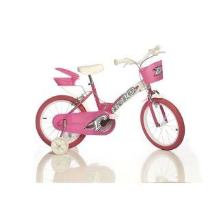 Modèle 156. Coloris  rose/blanc. Vélo enfant de 6 à 9 ans, pour